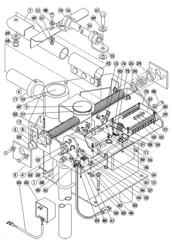 AGS 1200 Gate Opener Exploded View